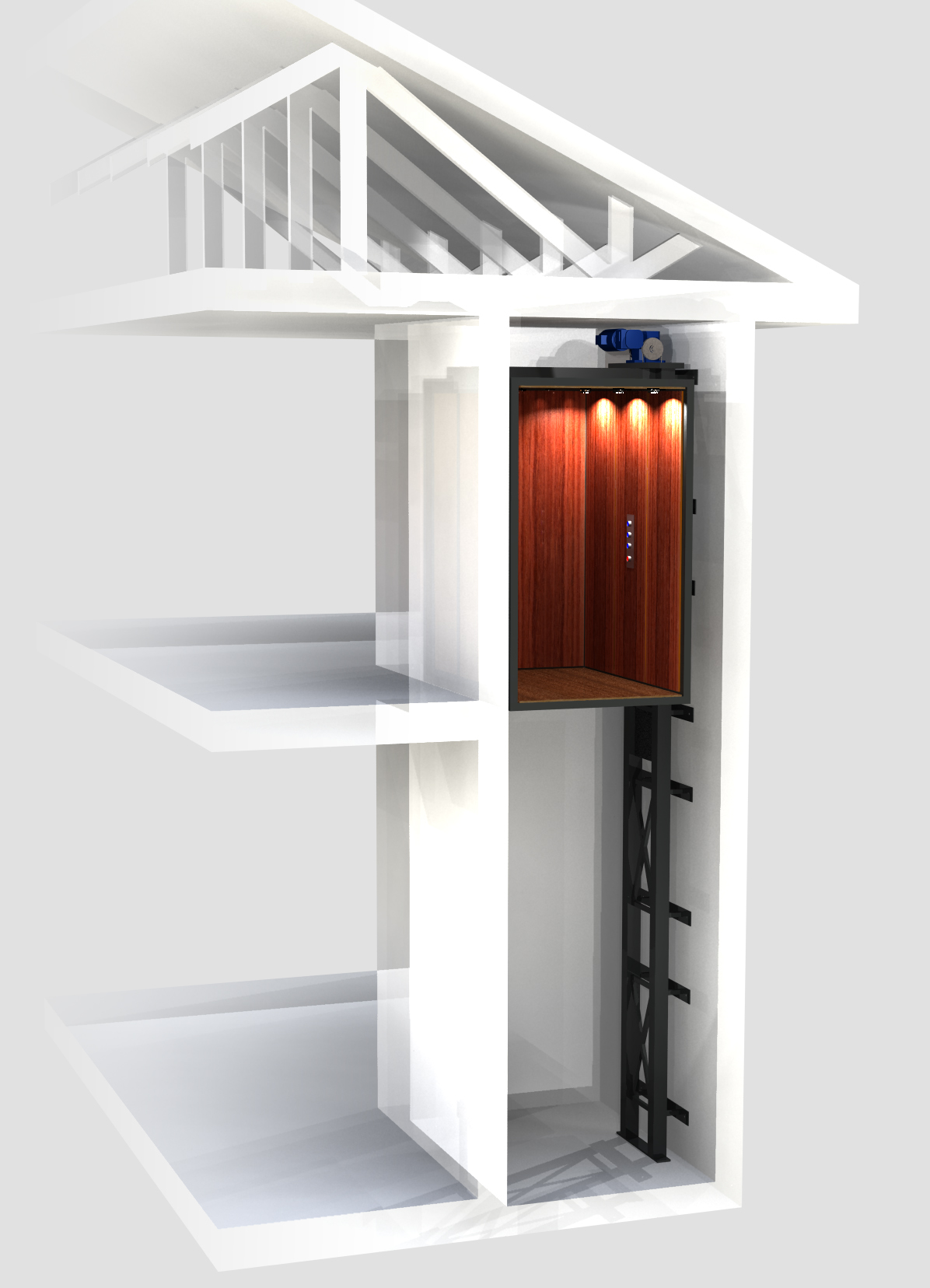 Planning for a residential elevator uppercut elevators for Elevators home
