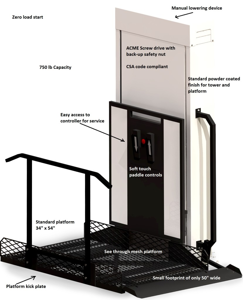 TrustT Porch Lift Features