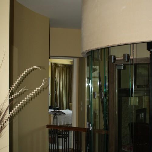 Exterior glass elevator view