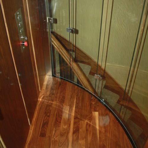 glass elevator car floor