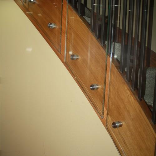 glass elevator hoistway walls