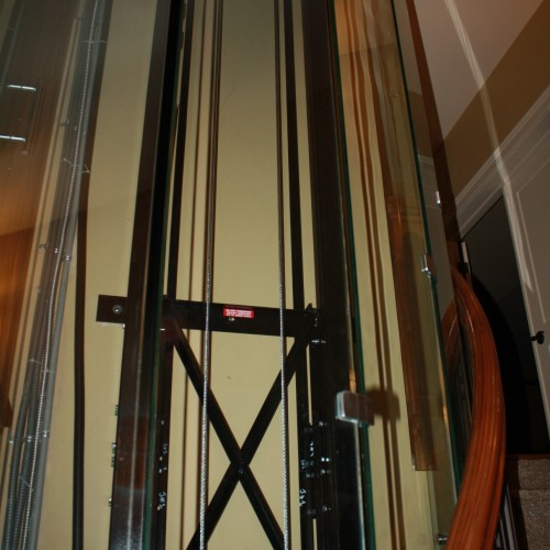 rail wall for glass elevator