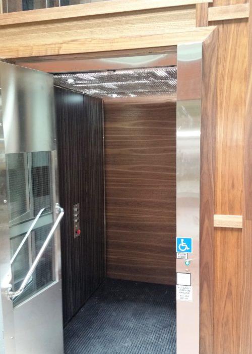 Accessibility lift interior