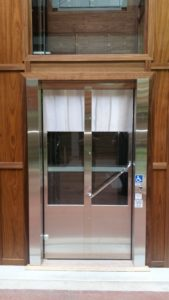 Bi folding stainless steel door