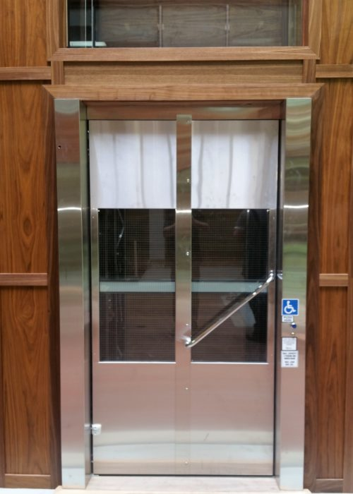 Bi folding stainless steel door