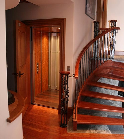 residential elevator in home