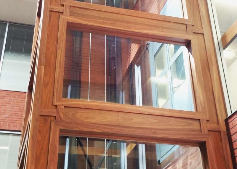 Elegant Oak Elevator