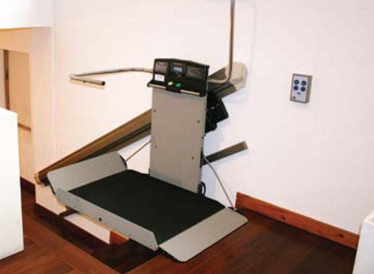 Garaventa Inclined platform lift arms museum