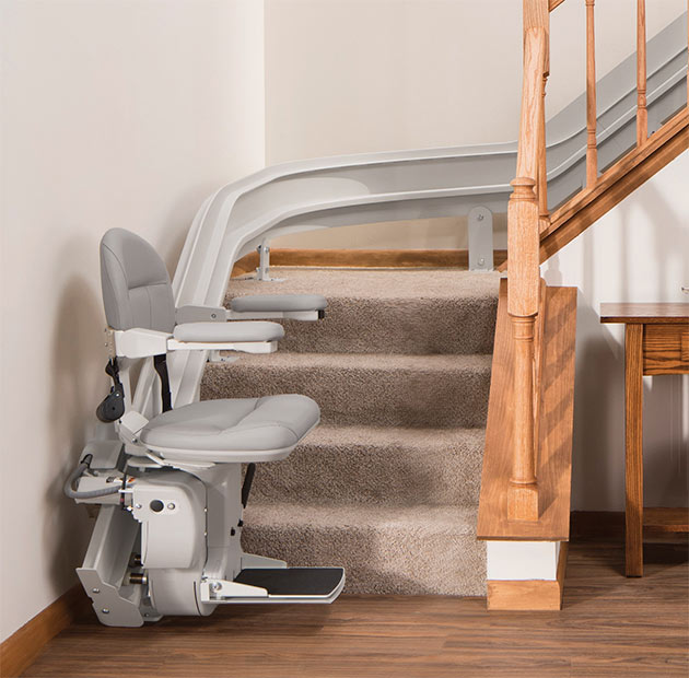 bruno elite stair lift curved bottom